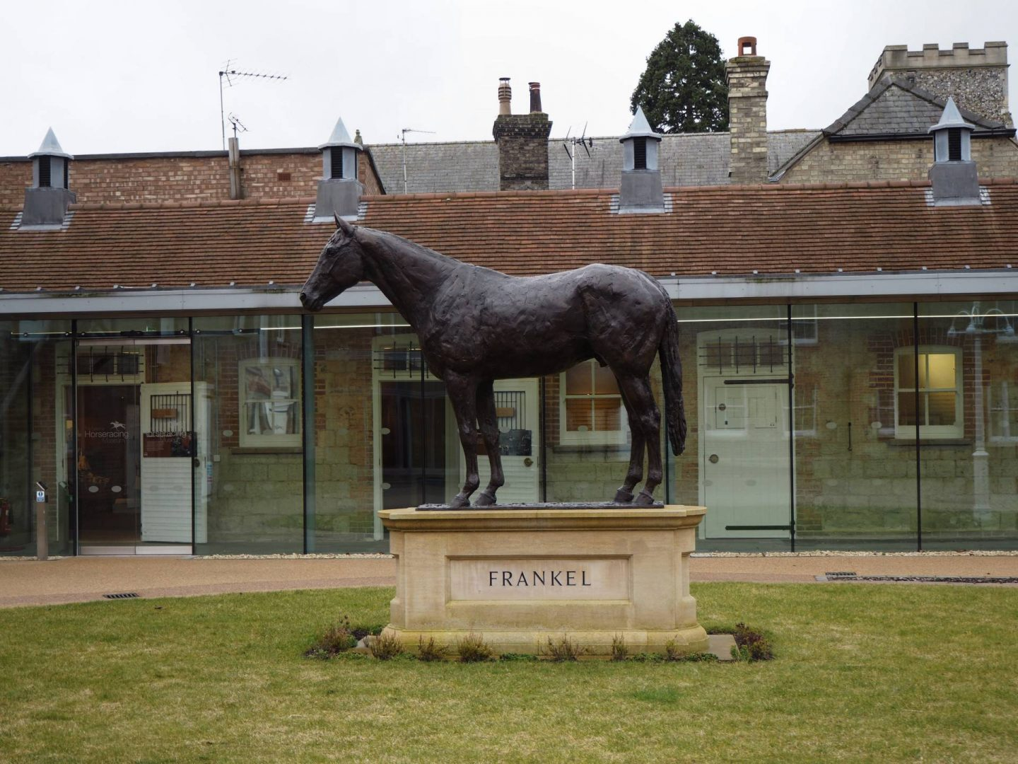 Frankel Statue in Newmarket Heritage Centre for Horseracing