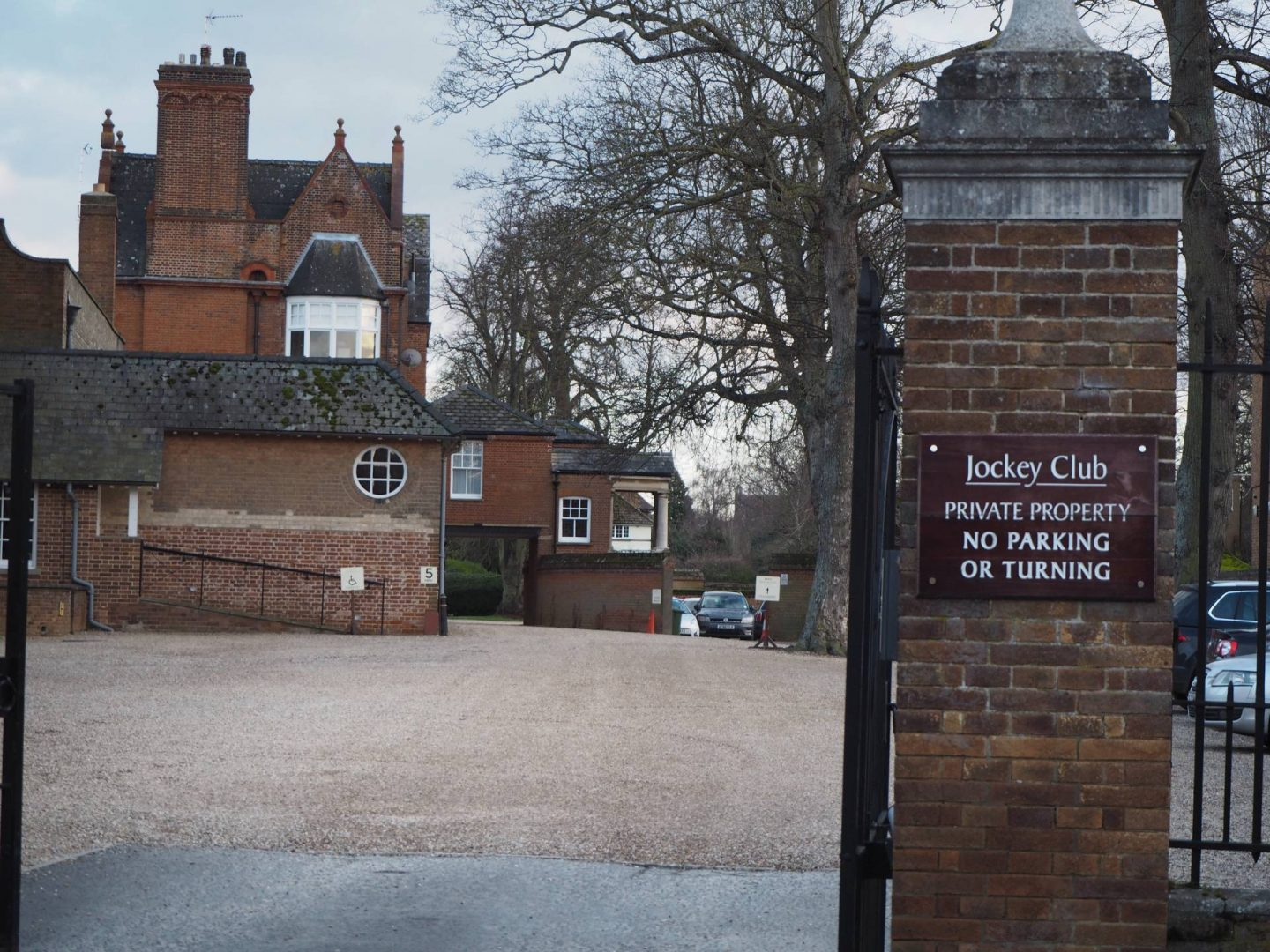 Front gates of jockey club rooms in newmarket