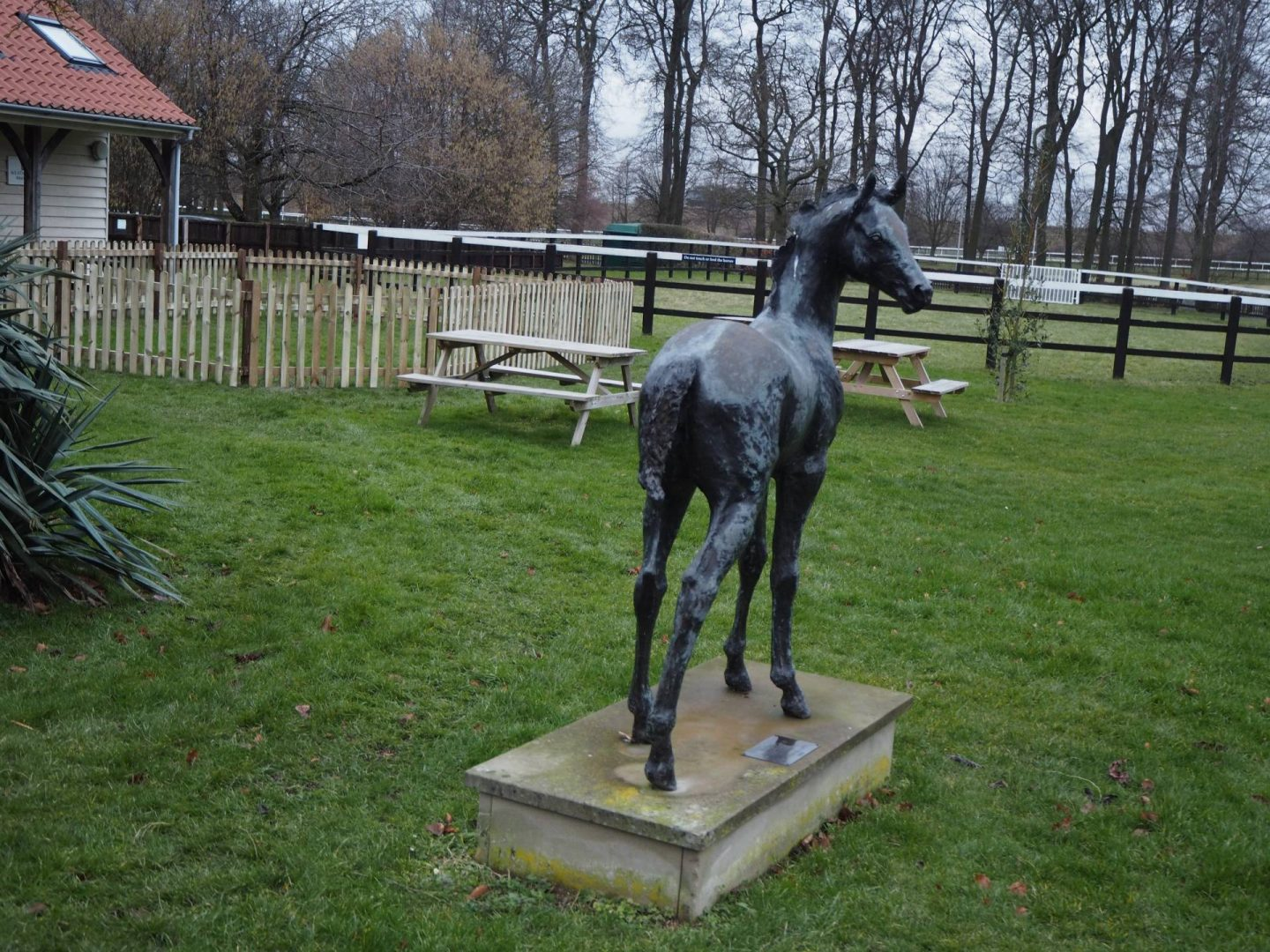 foal statue at the Newmarket stud