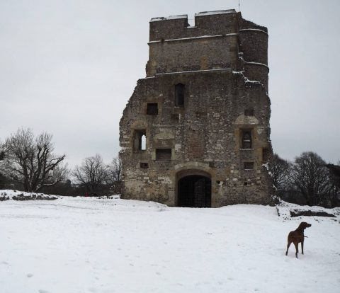 A snowy day trip to Donnington Castle