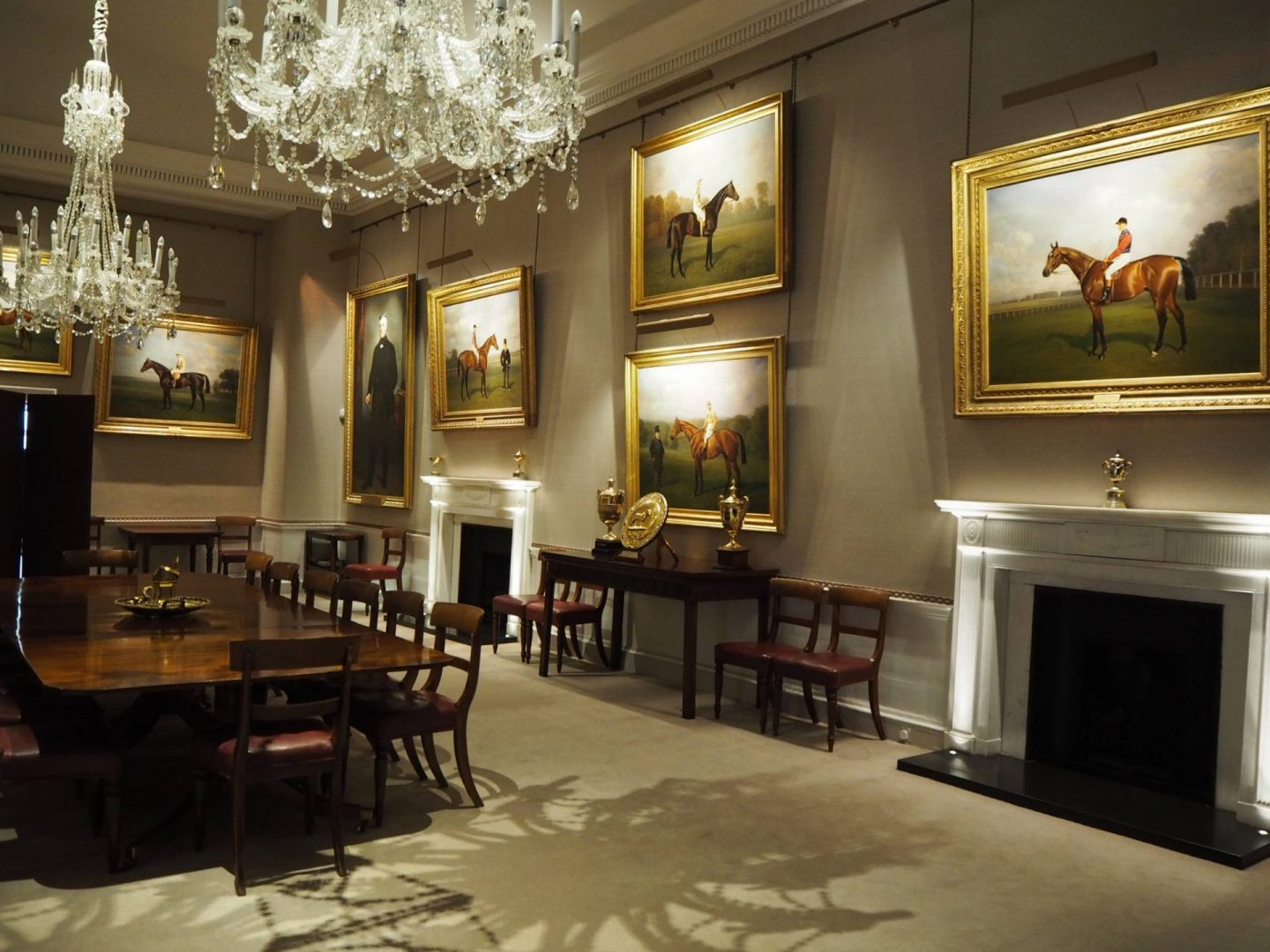 Inside the Jockey Club Rooms Newmarket
