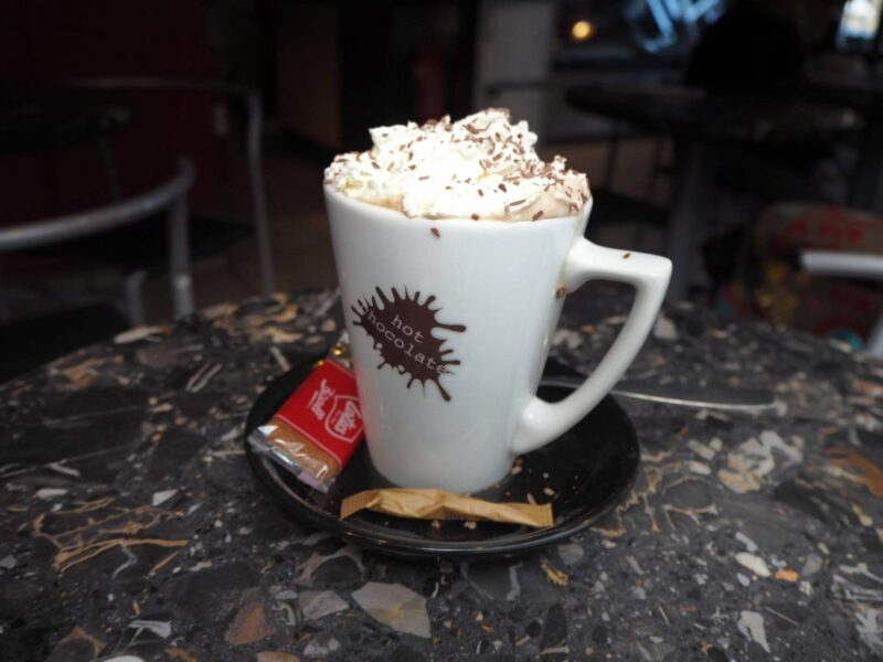 gingerbread mocha at coffee and co cafe in newmarket