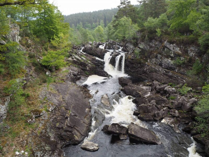 Rogie Falls in Scotland