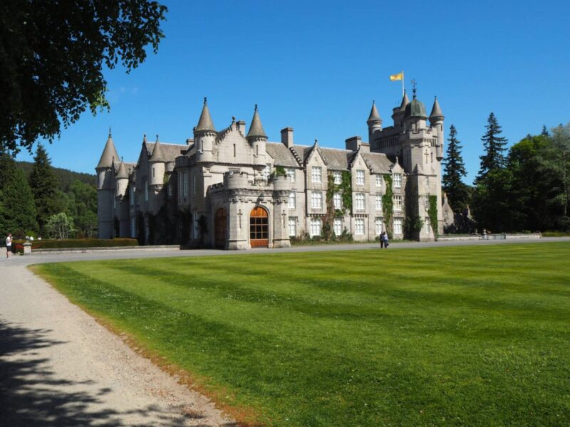 View of Balmoral Castle from across the front lawn