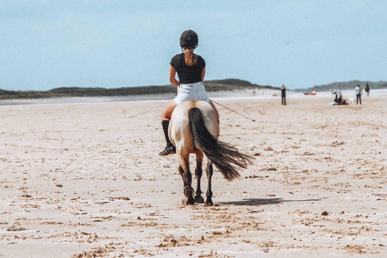 Riding bareback on Holkham Beach in Norfolk