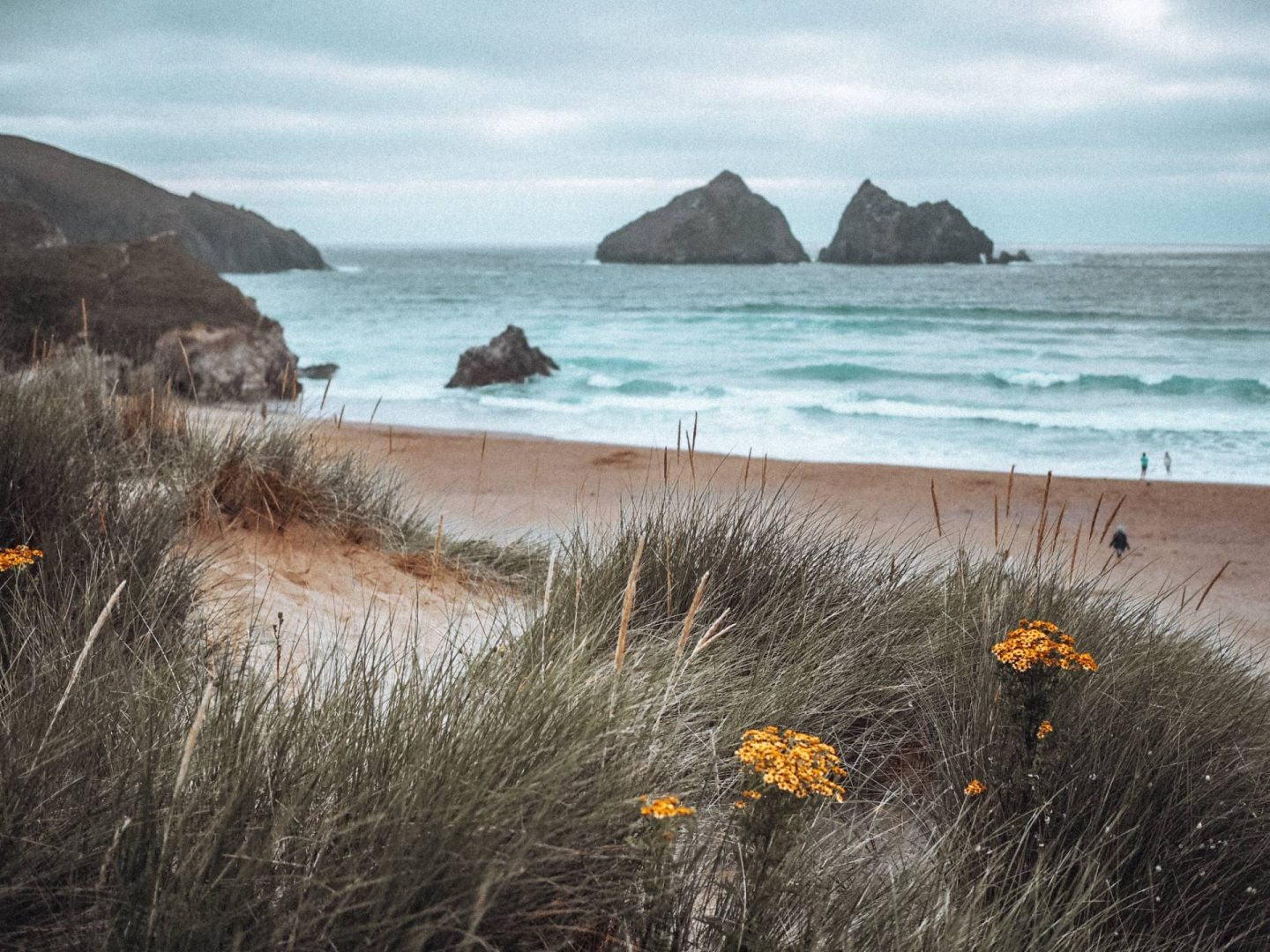 Holywell Bay Beach in Cornwall