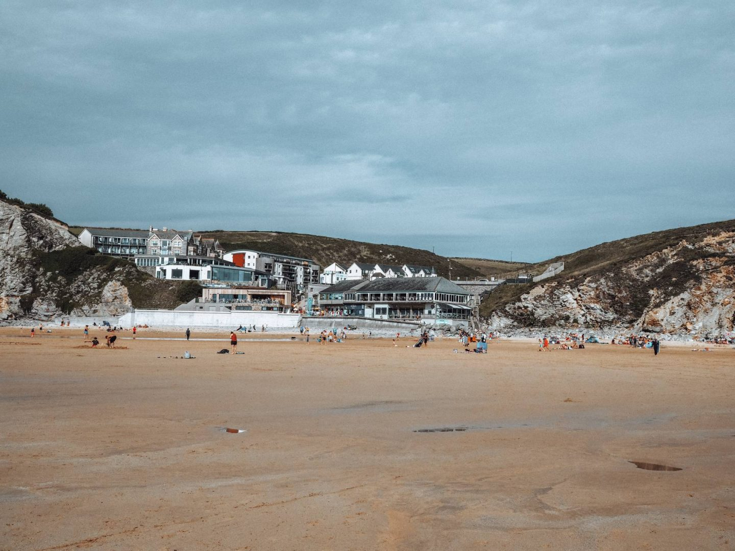 Watergate Bay in Cornwall UK