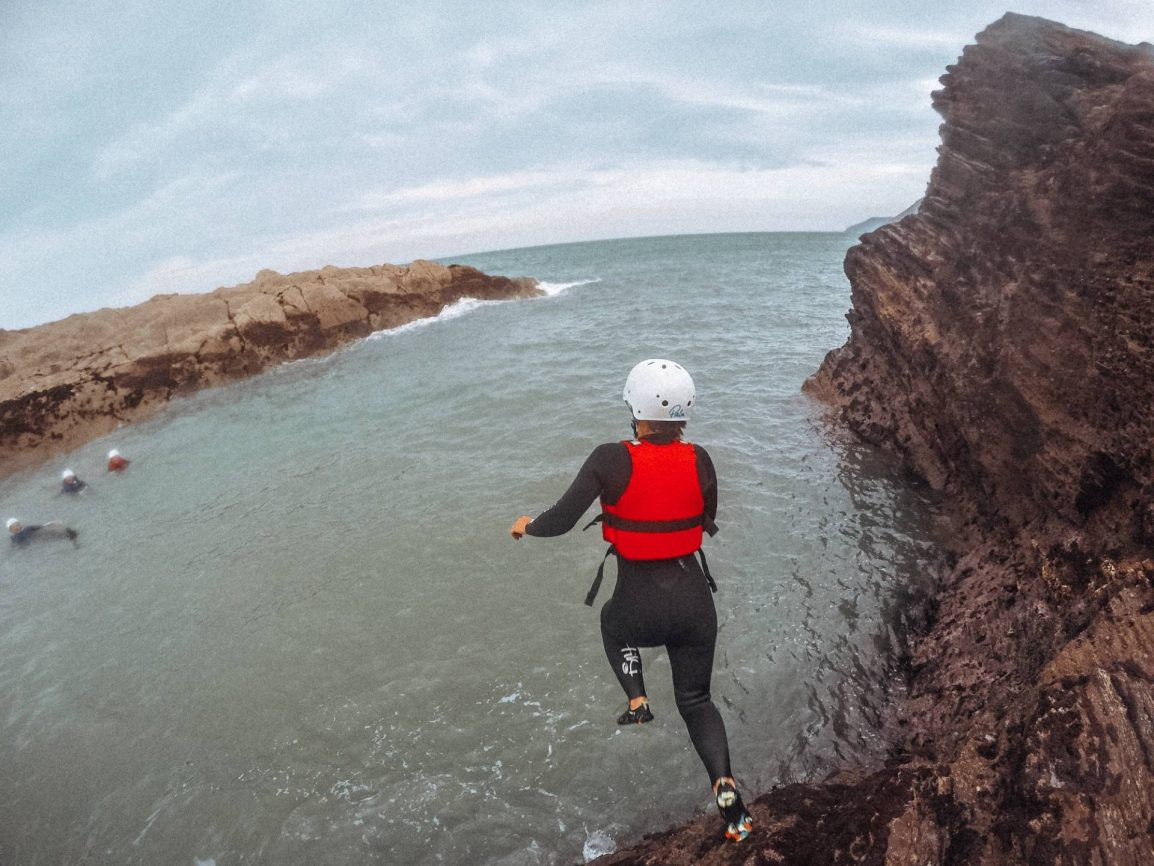Coasteering in North Devon