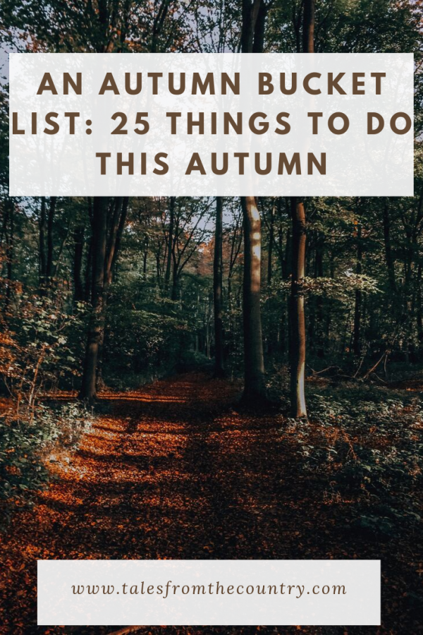 An Autumn Bucket List: 25 Things to do this Autumn