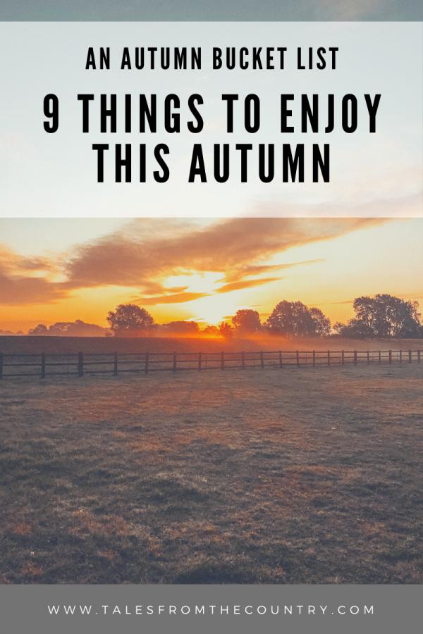 An Autumn bucket list: 9 things to enjoy this autumn