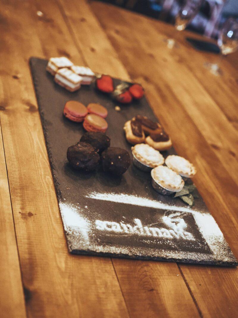 Dessert sharing platter with Scandinavia Events