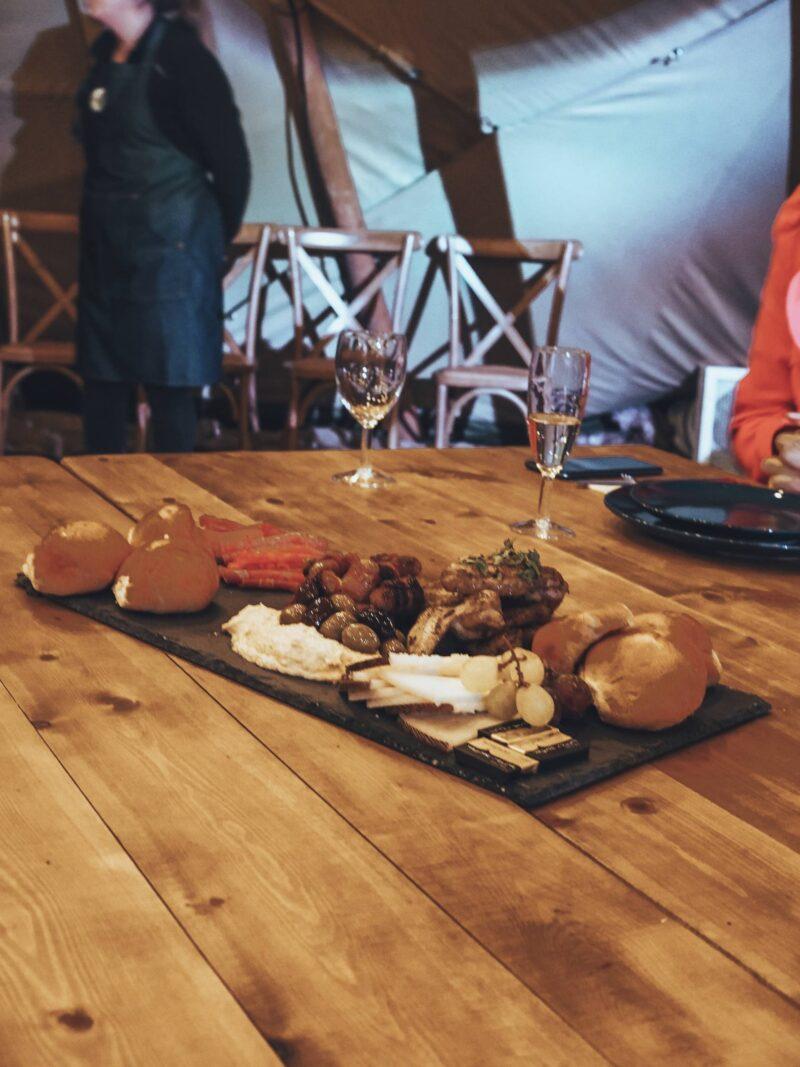Starter sharing platter at Scandinavia Event MK