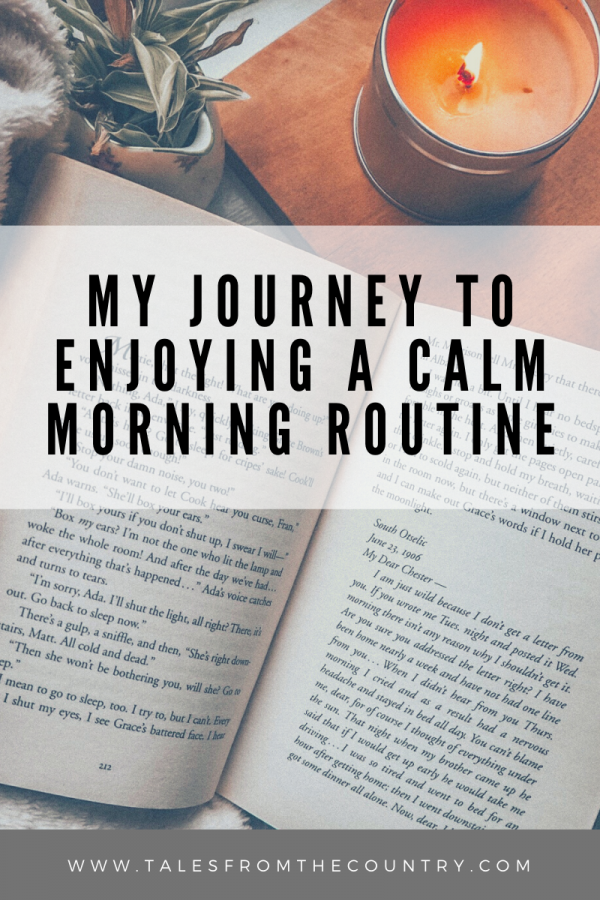 My journey to enjoying a calm morning routine
