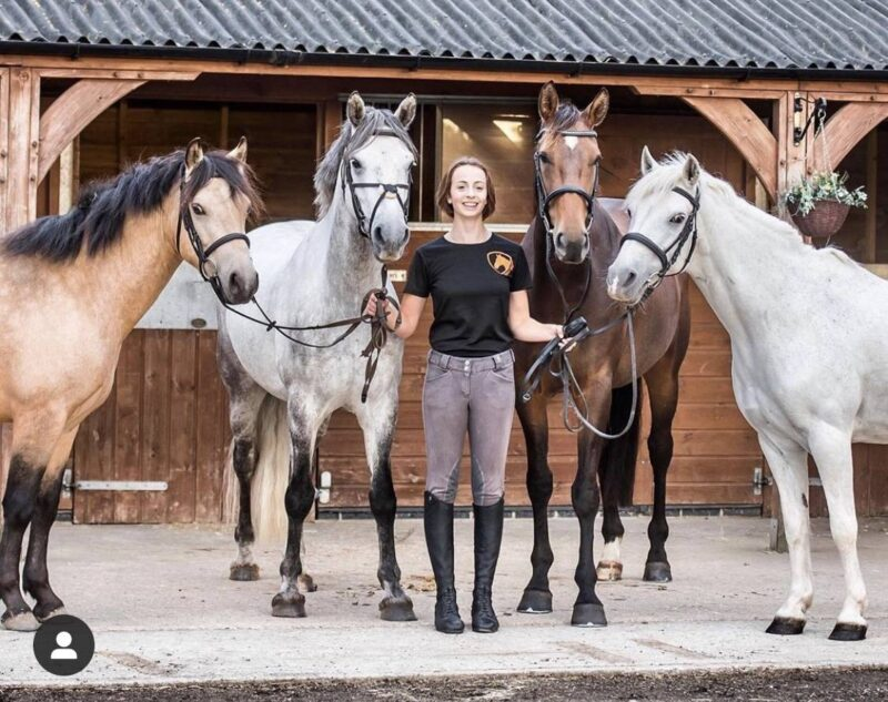 Gracie Tyte from Pony Nuts with her four horses