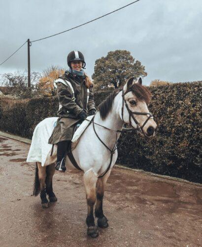 Long wax horse riding coat