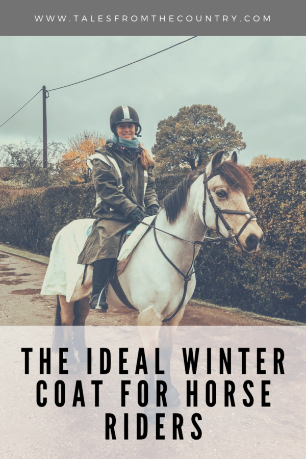 The ideal winter coat for horse riders