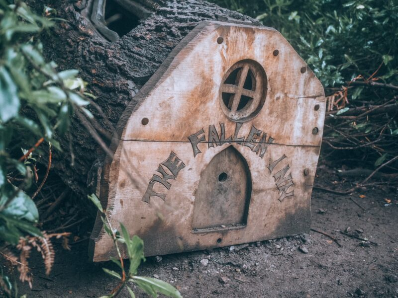 Fairy house at Rushmere Country Park