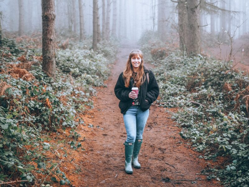 Girl walking at Rushmere Country Park