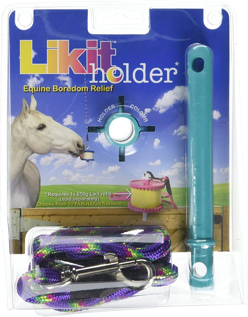 Likit holder for equine boredom relief