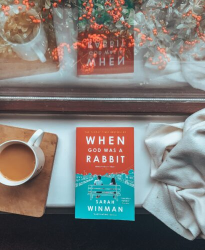When God was a Rabbit by Sarah Winman on a windowsill