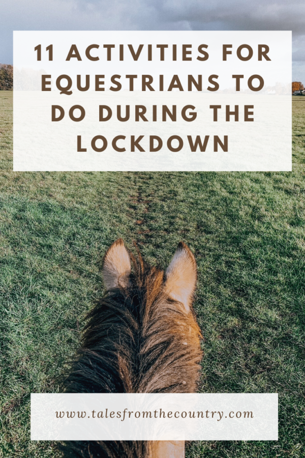 11 activities for equestrians to do during the lockdown