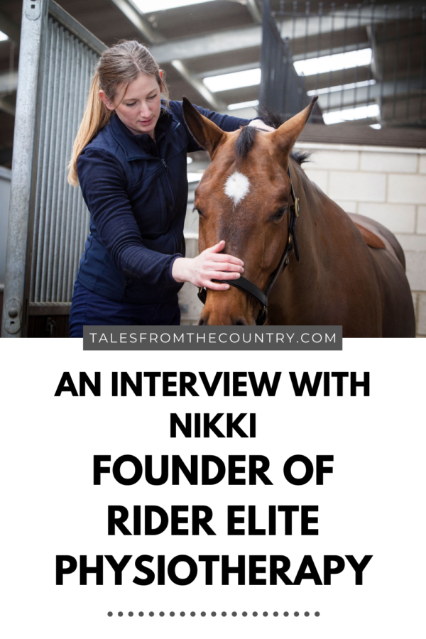 An interview with Nikki the founder of Rider Elite Physiotherapy