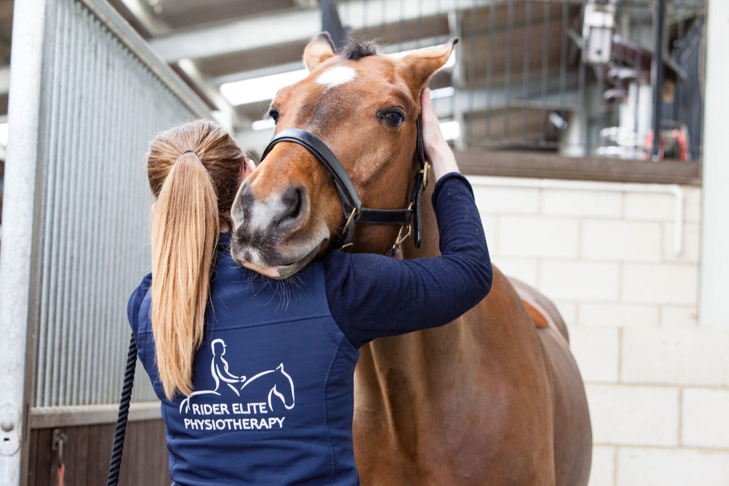 Nikki founder of Rider Elite Physiotherapy at work