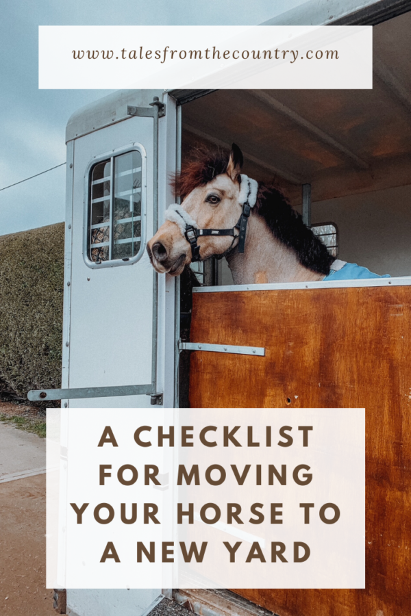 A checklist for moving your horse to a new yard