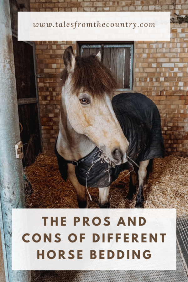 The pros and cons of different horse bedding