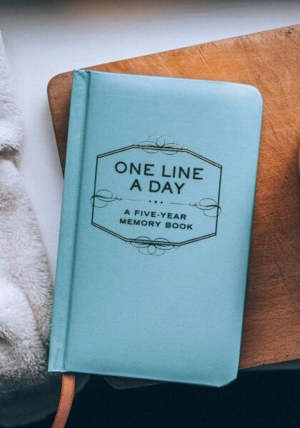 One line a day blue five year diary