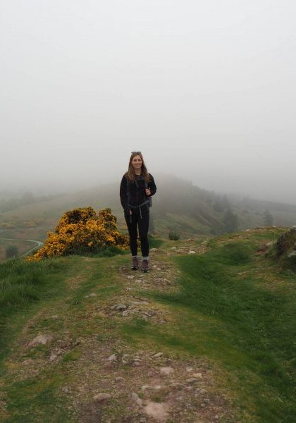 Walking along the Knock Farrel Ridge from Blackmuir Wood