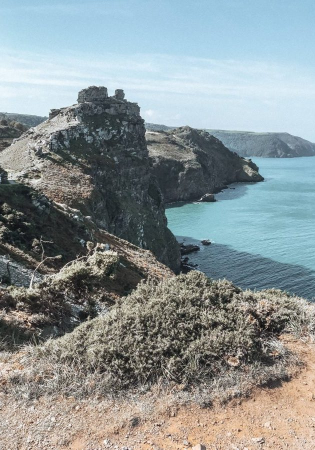 The coastal path by Valley of the Rocks in North Devon
